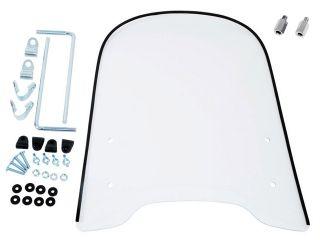 4307:原付用大型スクリーン ws-13g 8ミリ正ネジアダプタ付属