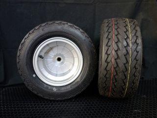 16022:8インチ5Jブレーキドラム一体型チューブレスアルミホイール、タイヤセット