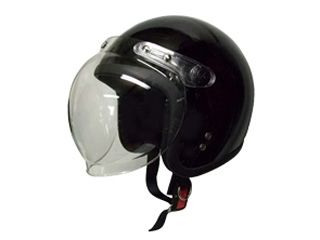 18849:スモールジェットヘルメット 回転式シールド付