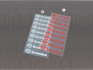 119700:brembo Die Cut Sticker(9枚綴・赤)