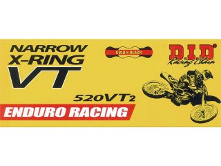 121907:モーターサイクルチェーン レース用 ERシリーズ 520VT2 G&B ZJ カシメジョイント(ゴールド/ブラック)