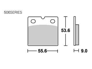 126744:ブレーキパッド 506LS ストリートエクセル(シンター)
