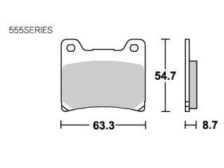 126775:ブレーキパッド 555HS  ストリートエクセル(シンター)