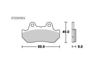126795:ブレーキパッド 572HS ストリートエクセル(シンター)