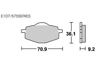 126799:ブレーキパッド 575RSI レーシングオフロード(シンター)