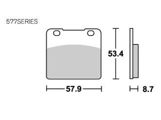 126801:ブレーキパッド 577HS ストリートエクセル(シンター)