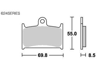 126854:ブレーキパッド 624HS ストリートエクセル(シンター)