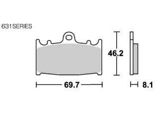 126863:ブレーキパッド 631HS ストリートエクセル(シンター)