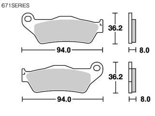 126911:ブレーキパッド 671RSI レーシングオフロード(シンター)