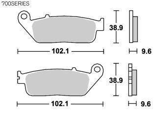 126942:ブレーキパッド 700HS ストリートエクセル(シンター)