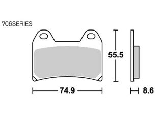 126955:ブレーキパッド 706DC レーシング(デュアルカーボン)