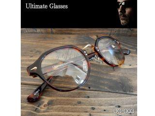 156567:Ultimate-UG-003 Ultimate アルティメット サングラス(レンズ:クリア、フレーム:ブラウンハバナ)