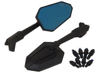 161454:アジャスタブルSFスタイルミラー(ブラック)