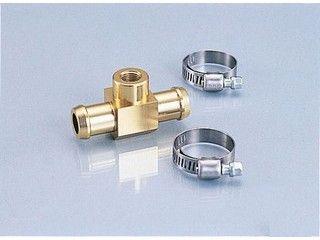 169640:水温計アタッチメント ホース内径φ14用(ゴールド)