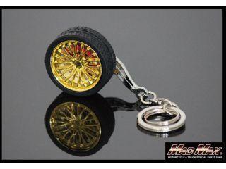 176048:スポークホイール型 アルミキーホルダー タイヤ付