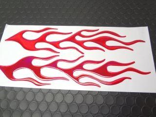 24836:立体型ファイヤーパターンステッカー(赤)