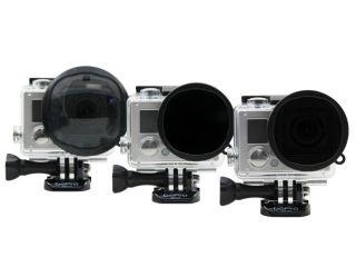 26165:GoPro Hero3+専用 ガラス製 スナップオン 3個フィルター Ventureコンボキット