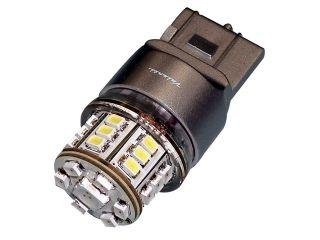44452:LEDバルブ B12LED T20ダブルウェッジ 270(レッド/ホワイト)