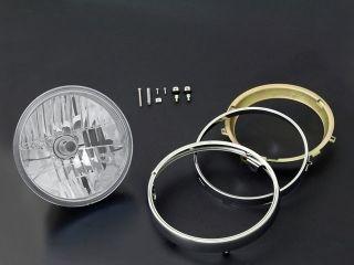 44612:ヘッドランプ ラウンドタイプ 旧カワサキ系 リム付