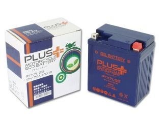 76902:PLUS(プラス)バッテリー ジェルタイプ PTX7L-BS(YTX7L-BS 互換)